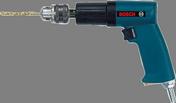 """T-grip drill, 0.43 hp, 750 rpm, Keyed 3/8"""" chuck, R/L, 1.8 lbs."""