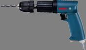 "T-grip drill, 0.43 hp, 850 rpm, keyless 3/8"" chuck, R only, 1.8 lbs."